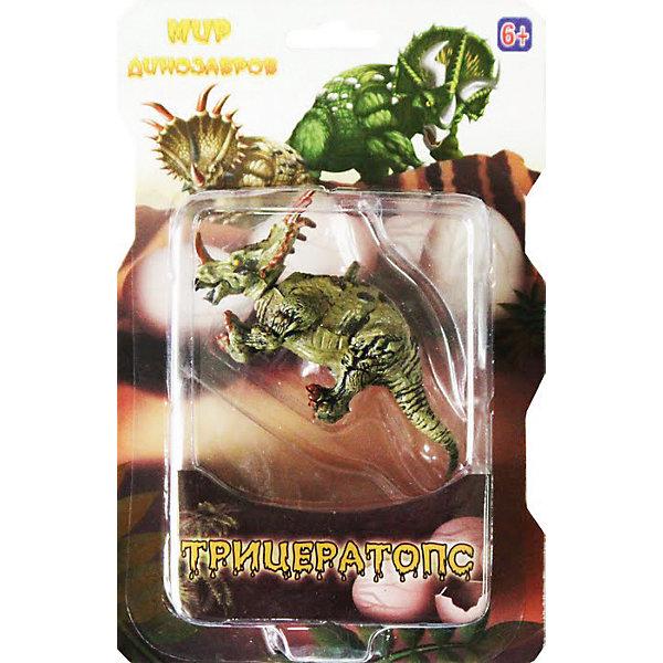 Фигурка Динозавры ТрицератопсМир животных<br>Фигурка Динозавры Трицератопс в ассортименте – это игрушка с отлично проработанными деталями, соблюденными пропорциями древнего ящера, аккуратно и тщательно раскрашенная в  естественные цвета, что лишь усиливает натуралистичность игрушки. Фигурка динозавра станет прекрасным дополнением коллекции игрушек любого малыша, а также замечательным украшением интерьера детской комнаты. Игрушка будет стимулировать интерес ребенка к изучению окружающего мира, развивать творческие способности и расширять возможности ролевых игр. <br><br>Дополнительная информация:<br>-Материалы: пластик<br><br>Фигурка Динозавры Трицератопс в ассортименте можно купить в нашем магазине.<br>Ширина мм: 21; Глубина мм: 140; Высота мм: 55; Вес г: 58; Возраст от месяцев: 36; Возраст до месяцев: 120; Пол: Мужской; Возраст: Детский; SKU: 4143812;