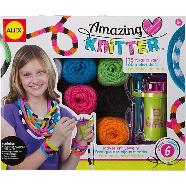ALEX Набор для вязания украшений на круговом станке, ALEX набор для вязания спицами alex модные вещи из пушистой пряжи