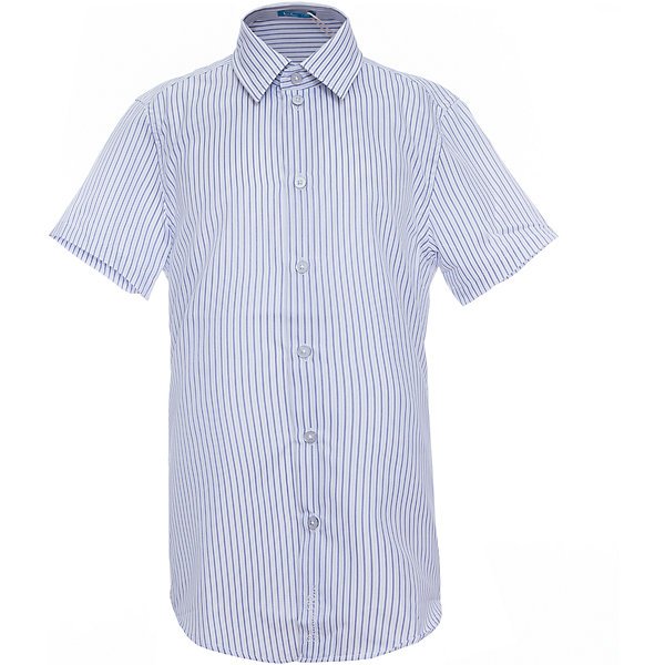 Рубашка для мальчика Button BlueОдежда<br>Модная рубашка в полоску с коротким рукавом - незаменимая вещь для жарких школьных классов. Значительное содержание хлопка в изделии обеспечит отличные гигиенические свойства, полиэстер в составе волокна сделает сорочку долговечной, а уход за ней легким и приятным. рубашка имеет деликатную фирменную вышивку в нижней части планки.<br>Состав:<br>50% хлопок                 50% полиэстер<br>Ширина мм: 174; Глубина мм: 10; Высота мм: 169; Вес г: 157; Цвет: белый; Возраст от месяцев: 84; Возраст до месяцев: 96; Пол: Мужской; Возраст: Детский; Размер: 128,152,122,158,146,134,140; SKU: 4147214;