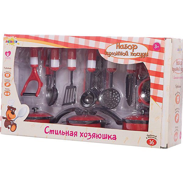 ALTACTO Набор кухонной посуды Стильная хозяюшка, ALTACTO ролевые игры игруша игровой набор посуды ind06