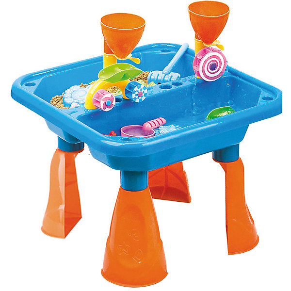 Стол для игр с песком и водой Водяные мельницы, Hualian ToysИграем в песочнице<br>Веселый набор для игр с песком Водяные мельницы - для будущих инженеров. Приобщайте ребенка к науке с самого детства в игровой форме! (в комплекте набор для песка  из 18 предметов, 48*48*H36)<br>Ширина мм: 483; Глубина мм: 160; Высота мм: 483; Вес г: 2000; Возраст от месяцев: 36; Возраст до месяцев: 72; Пол: Унисекс; Возраст: Детский; SKU: 4150558;