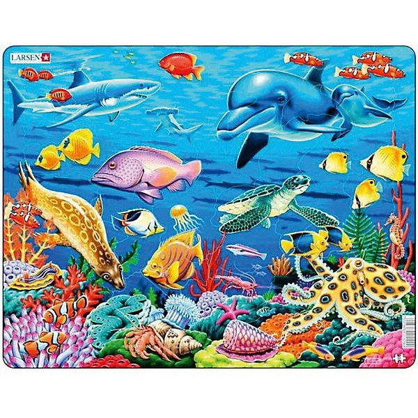 Купить Пазл Larsen Коралловый риф , 35 элементов, Норвегия, Унисекс