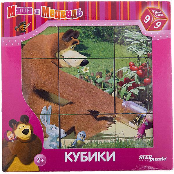 Кубики Маша и Медведь, 9 шт., Step puzzleКубики<br>Дети обожают мультсериал Маша и Медведь! Но долго смотреть мультфильмы нельзя, а расставаться с озорницей Машей так не хочется! Подарите малышу чудесные кубики Маша и Медведь и ребенок будет увлеченно подбирать их, пока не составит яркую и интересную картинку. Кубики с картинками - универсальный инструмент развития ребенка младшего возраста. Кубики Маша и Медведь созданы специально для того, чтобы малыш в увлекательной форме тренировал мелкую моторику, логику и внимание. Кубики легкие и покрыты безопасной краской, поэтому Вы можете использовать их для игры с самыми маленькими детьми. Сначала кроха будет рассматривать их и строить башенки, затем составлять замечательные картинки из любимого мультфильма. <br><br>Дополнительная информация:<br><br>- 9 кубиков;<br>- Особенно понравится поклонникам мультсериала Маша и Медведь;<br>- Удобный размер, как раз для детской ручки;<br>- Красивые яркие картинки;<br>- Отличный подарок;<br>- Размер упаковки: 14 х 14 х 5 см;<br>- Вес: 134 г<br><br>Кубики Маша и Медведь, 9 шт., Степ Пазл, можно купить в нашем интернет-магазине.<br>Ширина мм: 12; Глубина мм: 12; Высота мм: 4; Вес г: 134; Возраст от месяцев: 24; Возраст до месяцев: 72; Пол: Унисекс; Возраст: Детский; SKU: 4162739;
