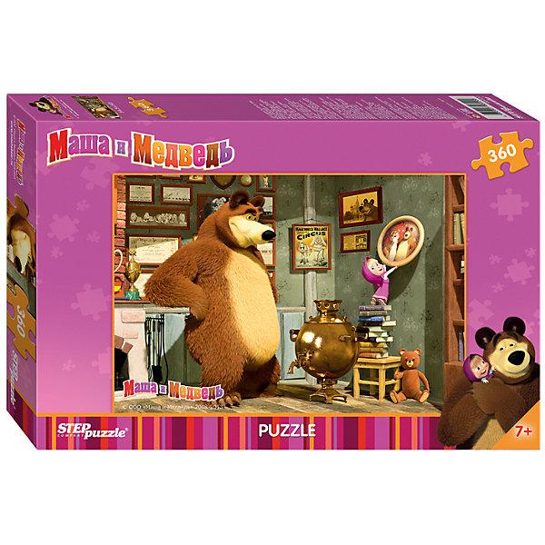 Пазл Маша и Медведь, 360 деталей, Step puzzleПазлы классические<br>Дети обожают мультсериал Маша и Медведь! Но долго смотреть мультфильмы нельзя, а расставаться с озорницей Машей так не хочется! Подарите малышу чудесный пазл Маша и Медведь и ребенок будет увлеченно подбирать детали, пока не составит яркую и интересную картинку. Серия про ремонт красочная и очень поучительная. Сборка пазла Маша и Медведь от Степ Пазл подарит Вашему малышу не только несколько вечеров творчества, но и принесет пользу для развития. Собирайте пазл всей семьей, ведь 360-ти деталей хватит на всех. Координация, моторика, внимательность легко тренируются пока ребенок увлеченно подбирает детальки одна к другой. Качественные фрагменты пазла отлично проклеены и идеально подходят один к другому, поэтому сборка пазла обеспечит малышу только положительные эмоции. Вы будете использовать этот пазл не один год, ведь благодаря качественной нарезке детали не расслаиваются даже после многократного использования. Закончив работу Вы получите изображение Маши, которая очень старается помочь Мише повесить фотографию ровно.<br><br>Дополнительная информация:<br><br>- Количество деталей: 360;<br>- Особенно понравится поклонникам мультсериала Маша и Медведь;<br>- Отличная проклейка;<br>- Долгий срок службы;<br>- Детали идеально подходят друг другу;<br>- Яркий сюжет;<br>- Материал: картон;<br>- Размер собранной картинки: 34,5 х 50 см.<br><br>Пазл Маша и Медведь, 360 деталей, Степ Пазл можно купить в нашем интернет-магазине.<br>Ширина мм: 34; Глубина мм: 22; Высота мм: 4; Вес г: 500; Возраст от месяцев: 84; Возраст до месяцев: 120; Пол: Унисекс; Возраст: Детский; Количество деталей: 360; SKU: 4162745;