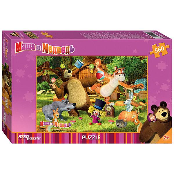 Пазл Маша и Медведь, 560 деталей, Step puzzleМаша и Медведь<br>Дети обожают мультсериал Маша и Медведь! Но долго смотреть мультфильмы нельзя, а расставаться с озорницей Машей так не хочется! Подарите малышу чудесный пазл Маша и Медведь и ребенок будет увлеченно подбирать детали, пока не составит яркую и интересную картинку. Собирать картинку, где собраны все главные герои популярного мультсериала будет очень увлекательно. Сборка пазла Маша и Медведь от Степ Пазл подарит Вашему малышу не только несколько вечеров творчества, но и принесет пользу для развития. Собирайте пазл всей семьей, ведь 560-ти деталей хватит на всех. Координация, моторика, внимательность легко тренируются пока ребенок увлеченно подбирает детальки одна к другой. Качественные фрагменты пазла отлично проклеены и идеально подходят один к другому, поэтому сборка пазла обеспечит малышу только положительные эмоции. Вы будете использовать этот пазл не один год, ведь благодаря качественной нарезке детали не расслаиваются даже после многократного использования. Закончив работу Вы получите изображение героев замечательного мультсериала Маша и Медведь!<br><br>Дополнительная информация:<br><br>- Количество деталей: 560;<br>- Особенно понравится поклонникам мультсериала Маша и Медведь;<br>- Отличная проклейка;<br>- Долгий срок службы;<br>- Детали идеально подходят друг другу;<br>- Яркий сюжет;<br>- Материал: картон;<br>- Размер собранной картинки: 34,5 х 50 см.<br><br>Пазл Маша и Медведь, 560 деталей, Степ Пазл можно купить в нашем интернет-магазине.<br>Ширина мм: 34; Глубина мм: 22; Высота мм: 4; Вес г: 500; Возраст от месяцев: 84; Возраст до месяцев: 120; Пол: Унисекс; Возраст: Детский; Количество деталей: 560; SKU: 4162750;