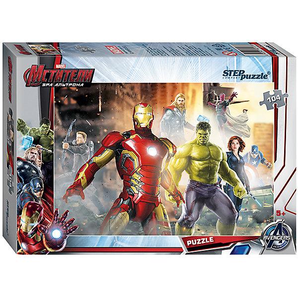 Пазл Мстители-2, 104 детали, Step puzzleМстители<br>Величайшие герои Земли выходят на борьбу со злом! Команда Мстителей всегда встречает вызовы судьбы и готова защитить человечество. Мальчишки обожают истории про супергероев. Но долго смотреть мультфильмы нельзя, а расставаться с Халком, Тором и Капитаном Америкой не хочется! Подарите мальчишке чудесный пазл Мстители-2 и ребенок будет увлеченно подбирать детали, пока не составит яркую и интересную картинку. Сборка пазла Мстители-2 от Степ Пазл подарит Вашему ребенку не только множество увлекательных вечеров, но и принесет пользу для развития. Координация, моторика, внимательность легко тренируются пока ребенок увлеченно подбирает детальки одна к другой. Качественные фрагменты пазла отлично проклеены и идеально подходят один к другому, поэтому сборка пазла обеспечит малышу только положительные эмоции. Вы будете использовать этот пазл не один год, ведь благодаря качественной нарезке детали не расслаиваются даже после многократного использования. Закончив работу Вы получите изображение любимых супергероев MARVEL!<br><br>Дополнительная информация:<br><br>- Количество деталей: 104;<br>- Особенно понравится поклонникам мультфильма Мстители-2;<br>- Отличная проклейка;<br>- Долгий срок службы;<br>- Детали среднего размера идеально подходят друг другу;<br>- Яркий сюжет;<br>- Материал: картон;<br>- Размер собранной картинки: 23 х 33 см.<br><br>Пазл Мстители-2, 104 детали, Степ Пазл можно купить в нашем интернет-магазине.<br>Ширина мм: 195; Глубина мм: 137; Высота мм: 35; Вес г: 117; Возраст от месяцев: 60; Возраст до месяцев: 96; Пол: Мужской; Возраст: Детский; Количество деталей: 104; SKU: 4162765;