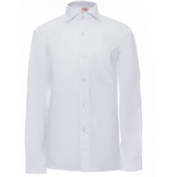 Рубашка для мальчика ImperatorБлузки и рубашки<br>Характеристики товара:<br><br>• цвет: белый<br>• состав ткани: 55% хлопок, 45% полиэстер<br>• особенности: школьная, праздничная<br>• застежка: пуговицы<br>• рукава: длинные<br>• сезон: круглый год<br>• страна бренда: Российская Федерация<br>• страна изготовитель: Китай<br><br>Классическая сорочка для мальчика - отличный вариант комфортной и стильной школьной одежды.<br><br>Накладной карман, свободный покрой, дышащая ткань с преобладанием хлопка - красиво и удобно.<br><br>Рубашку для мальчика Imperator (Император) можно купить в нашем интернет-магазине.<br>Ширина мм: 174; Глубина мм: 10; Высота мм: 169; Вес г: 157; Цвет: белый; Возраст от месяцев: 144; Возраст до месяцев: 156; Пол: Мужской; Возраст: Детский; Размер: 152/158,116/122,134/140,158/164,164/170,140/146,146/152,122/128,128/134,104/110,98/104,92/98,110/116; SKU: 4163726;