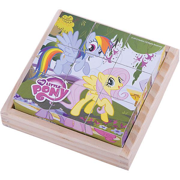 Деревянные кубики My little Pony, Играем вместеИгрушки<br>Разноцветные кубики - важный инструмент развития ребенка младшего возраста. Деревянные кубики My Little Pony (Мой маленький пони) созданы специально для того, чтобы малыш в развлекательной приятной форме тренировал мелкую моторику, логику и внимание. Кубики выполнены из дерева и покрыты безопасной краской, поэтому Вы можете использовать их для игры с самыми маленькими детьми. Сначала кроха будет рассматривать их и строить башенки, затем составлять замечательные картинки. Ведь на каждой стороне кубиков удивительные картинки из любимого мультсериала My Little Pony (Мой маленький пони). С помощью удобной подставки для хранения кубиков, Вы можете приучать малыша к порядку и аккуратности.<br><br>Дополнительная информация:<br><br>- 9 кубиков;<br>- Особенно понравится поклонникам мультсериала My Little Pony (Мой маленький пони);<br>- Удобная подставка для хранения;<br>- Красивые картинки;<br>- Материал: дерево;<br>- Размер упаковки: 13 х 13 х 5 см;<br>- Вес: 280 г<br><br>Деревянные кубики My little Pony (Мой маленький пони), Играем вместе, можно купить в нашем интернет-магазине.<br>Ширина мм: 130; Глубина мм: 130; Высота мм: 50; Вес г: 280; Возраст от месяцев: 12; Возраст до месяцев: 36; Пол: Женский; Возраст: Детский; SKU: 4166992;