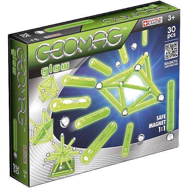 Geomag Магнитный конструктор Geomag Glow, 30 деталей