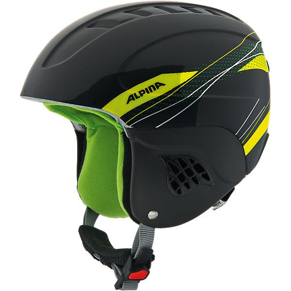 Alpina Зимний шлем Alpina CARAT black-greenl цена