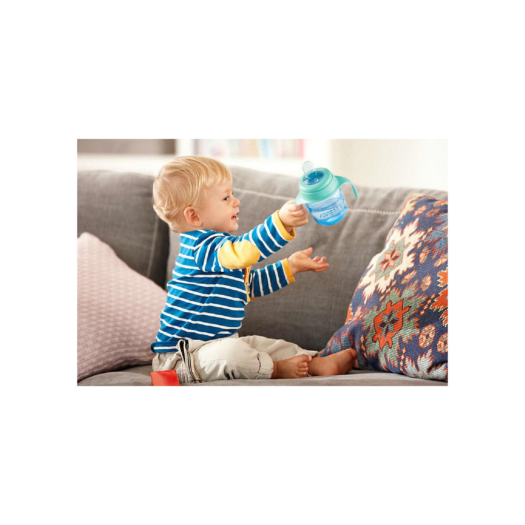 PHILIPS AVENT Чашка-поильник с носиком Comfort, 200 мл, Avent, голубой/зеленый