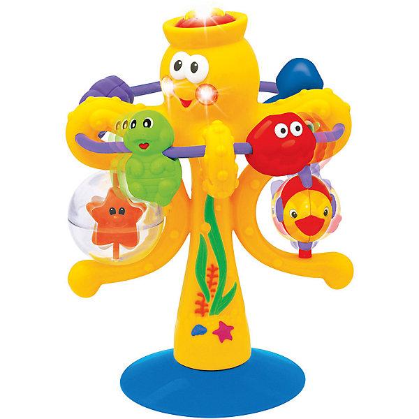 Интерактивная игрушка Kiddieland Осьминог на присоскеИнтерактивные игрушки для малышей<br>Характеристики товара:<br><br>• возраст: от 1 года;<br>• материал: пластик;<br>• размер упаковки: 27х23х20 см;<br>• вес упаковки: 300 гр.;<br>• страна производитель: Китай.<br><br>Развивающая игрушка «Осьминог» на присоске Kiddieland — увлекательная игрушка для малышей. При помощи присоски она крепится на любую горизонтальную поверхность. На игрушке имеются разные элементы: звездочка во вращающемся шарике, кнопочка, дуга с двигающимися на ней игрушками. Игрушка развивает мелкую моторику рук, цветовое восприятие, тактильные ощущения. Выполнена из безопасного пластика.<br><br>Развивающую игрушку «Осьминог» на присоске Kiddieland можно приобрести в нашем интернет-магазине.<br>Ширина мм: 173; Глубина мм: 213; Высота мм: 165; Вес г: 300; Возраст от месяцев: 12; Возраст до месяцев: 48; Пол: Унисекс; Возраст: Детский; SKU: 4217261;