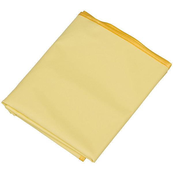 Roxy-Kids Клеенка подкладная с ПВХ покрытием, Roxy-Kids, желтый нагрудник roxy kids мягкий для кормления с кармашком и застежкой желтый
