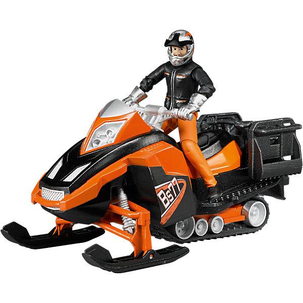 Bruder Машинка Снегоход и фигурка водителя с аксессуарами