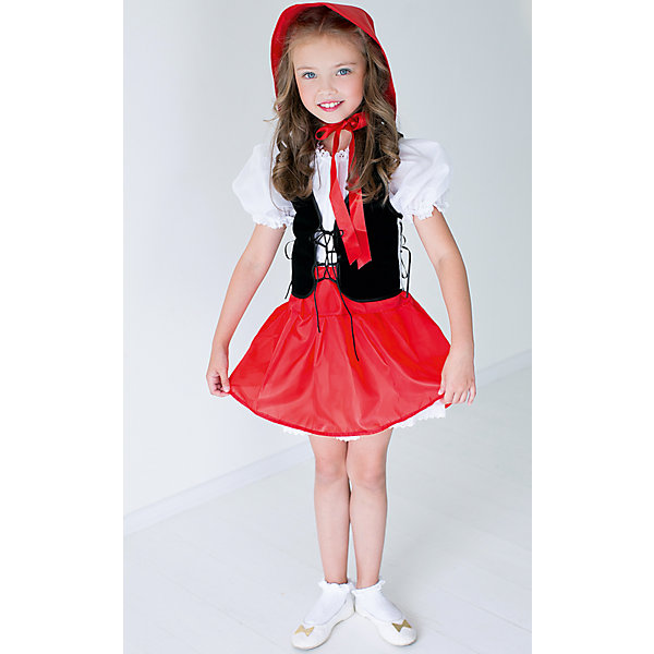 Карнавальный костюм для девочки Красная Шапочка, ВестификаКарнавальные костюмы для девочек<br>Карнавальный костюм для девочки Красная Шапочка от марки Вестифика. В комплект входит платье, жилет и шапочка.<br>Состав:<br>Верх-100% полиэстер;<br>Подкладка-100% хлопок.<br>Внимание! В  наличии 2 вида моделей с шапочками разными по форме. К сожалению, выбор определенного вида головного убора в данном случае невозможен.<br>Ширина мм: 236; Глубина мм: 16; Высота мм: 184; Вес г: 177; Возраст от месяцев: 48; Возраст до месяцев: 60; Пол: Женский; Возраст: Детский; Размер: 104/110,128/134,116/122,98/104; SKU: 4234710;