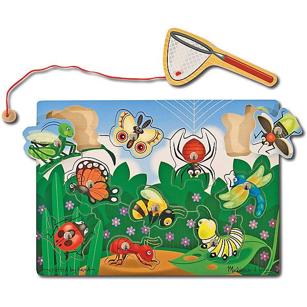 Melissa & Doug Магнитная игра Ловля насекомых, Melissa & Doug деревянная игрушка melissa
