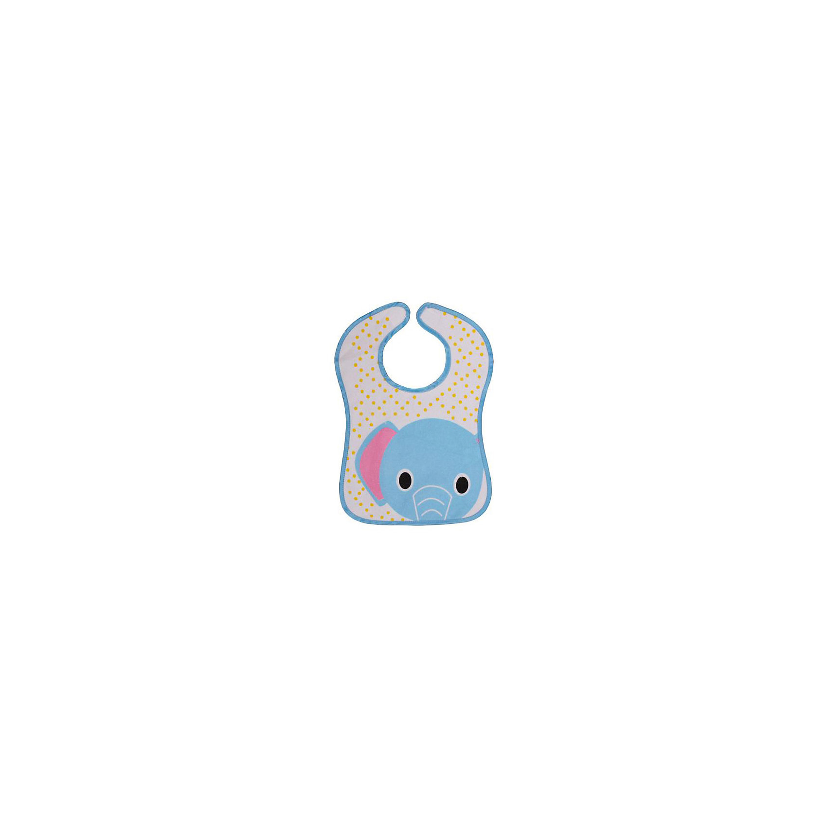 Нагрудник махровый Слоник Sevi baby, голубой (Sevi Baby)