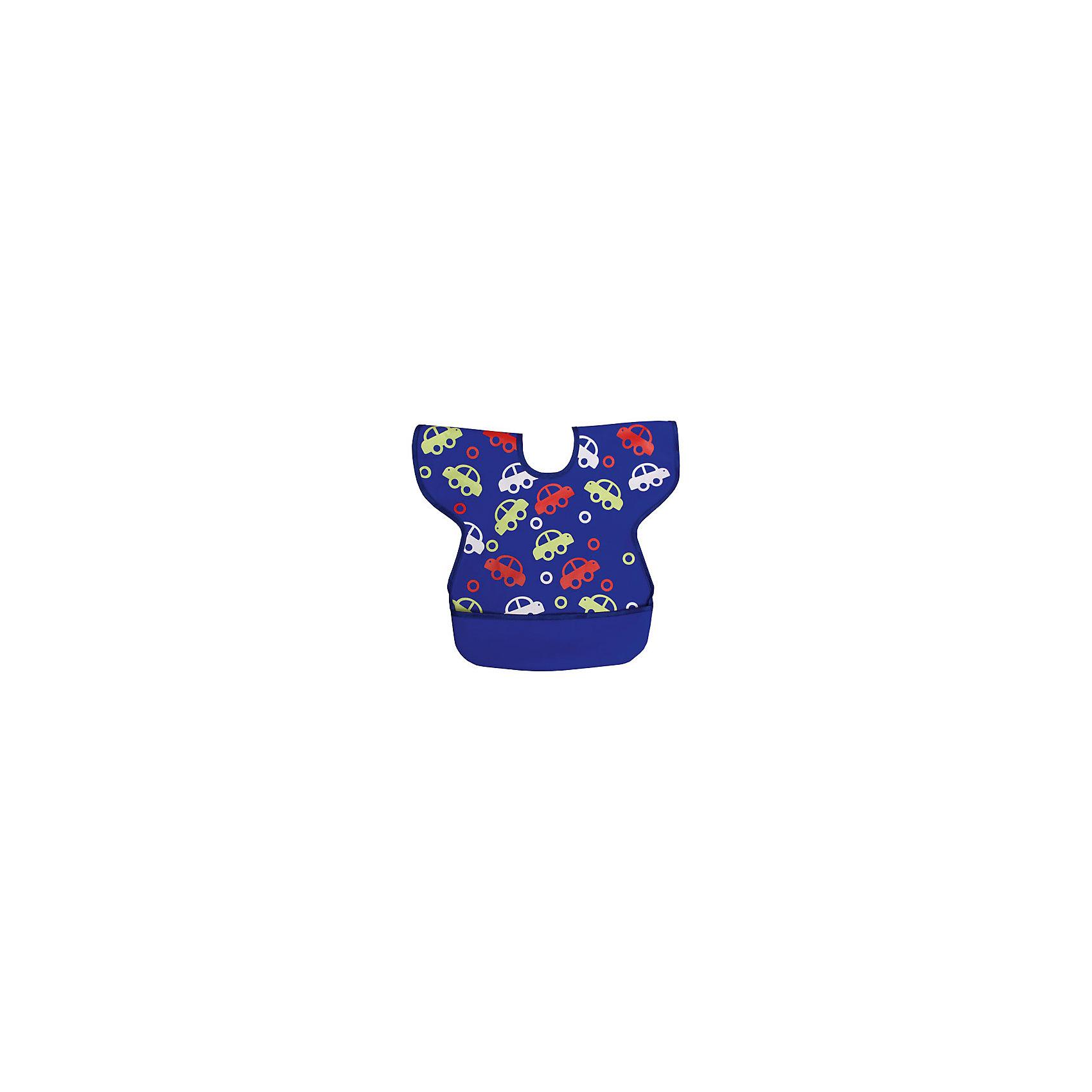 Нагрудник полиуретан с крылышками М, Sevi baby, синий 12-7 sevi baby (Sevi Baby)