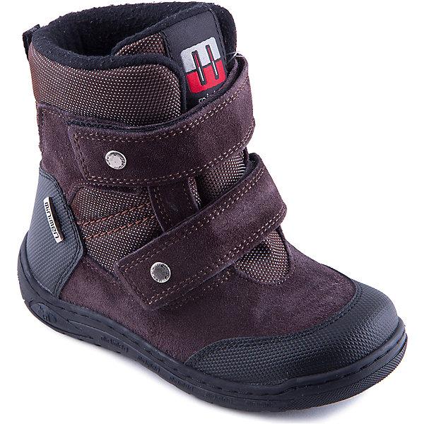 Ботинки для мальчика MinimenБотинки<br>Полусапоги от известного турецкого бренда Minimen прекрасный вариант на холодную погоду. Модель застегивается на липучки, нос и задник выполнены из водонепроницаемого материала. Полуботинки изготовлены из натуральной кожи, имеют толстую рифленую подошву и  мягкую  подкладку, отлично сохраняющую тепло. Модель спокойной расцветки хорошо сочетается с любой одеждой.<br><br>Дополнительная информация:<br><br>- Сезон: осень/зима.<br>- Температурный режим: от -5? до - 15?.<br>- Тип застежки: липучка. <br>- Декоративные элементы: кнопки, логотип бренда.<br>- Рифленая подошва.<br>Параметры для размера 25<br>- Толщина подошвы: 1 см.<br>- Высота каблука: 2 см.<br>Состав: <br>верх-натуральная кожа 100%,подкладка-текстиль,подошва-тэп.<br><br>Полусапоги для девочки Minimen (Минимен) можно купить в нашем магазине.<br>Ширина мм: 257; Глубина мм: 180; Высота мм: 130; Вес г: 420; Цвет: коричневый; Возраст от месяцев: 36; Возраст до месяцев: 48; Пол: Унисекс; Возраст: Детский; Размер: 27,30,25,28,26,29; SKU: 4240144;