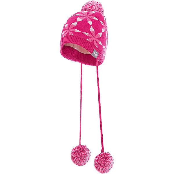 Шапка Huppa Eli для девочкиШапочки<br>Характеристики товара:<br><br>• модель: Eli;<br>• цвет: розовый;<br>• состав: 50% шерсть мериноса, 50% акрил; <br>• подкладка: 100% хлопок;<br>• утеплитель: без дополнительного утепления;<br>• сезон: зима;<br>• температурный режим: от 0°С до -25°С;<br>• особенности: вязаная, с помпоном, на завязках;<br>• шапка с рисунком;<br>• завязки с помпонами;<br>• светоотражающая эмблема;<br>• страна бренда: Финляндия;<br>• страна изготовитель: Эстония.<br><br>Зимняя вязаная шапка Huppa выполнена из смеси шерсти мериноса и акрила. Для защиты от холодных ветров у шапки имеются ленты с помпонами, при помощи которых шапку можно завязать и защитить уши от холода. Шапка с помпоном.<br><br>Шапку Huppa Eli (Хуппа) можно купить в нашем интернет-магазине.<br>Ширина мм: 89; Глубина мм: 117; Высота мм: 44; Вес г: 155; Цвет: розовый; Возраст от месяцев: 9; Возраст до месяцев: 12; Пол: Женский; Возраст: Детский; Размер: 43-45,51-53,47-49; SKU: 4242948;