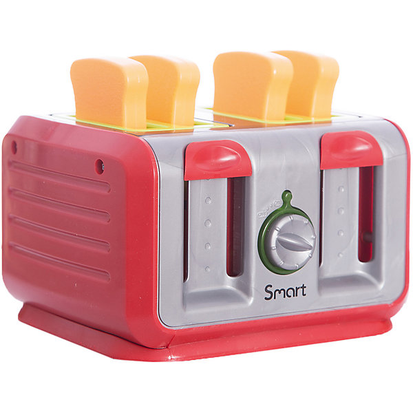 Тостер, HTIИгрушечная бытовая техника<br>Тостер, HTI – эта игрушка станет прекрасным подарком для вашей юной хозяйки.<br>Тостер станет отличным дополнением к игрушечной кухне. Ведь он похож на настоящий бытовой прибор. При повороте переключателя у него активируются световые эффекты. Если нажать на рычаг, то раздается легкое тиканье, а затем готовые тосты со звоном выскакивают. Игрушечная бытовая техника не только развлекает ребенка, но и знакомит его с правилами использования электроприборов. Модель изготовлена из безопасного и качественного пластика.<br><br>Дополнительная информация:<br><br>- В наборе: тостер, четыре игрушечных кусочка хлеба<br>- Батарейки: 3 х AG13/LR44 (входят в комплект)<br>- Материал: пластик<br>- Размер упаковки: 18,5 х 15,8 х 13,2 см.<br>- Вес: 404 гр.<br><br>Тостер, HTI можно купить в нашем интернет-магазине.<br>Ширина мм: 185; Глубина мм: 158; Высота мм: 132; Вес г: 404; Возраст от месяцев: 36; Возраст до месяцев: 144; Пол: Женский; Возраст: Детский; SKU: 4243857;