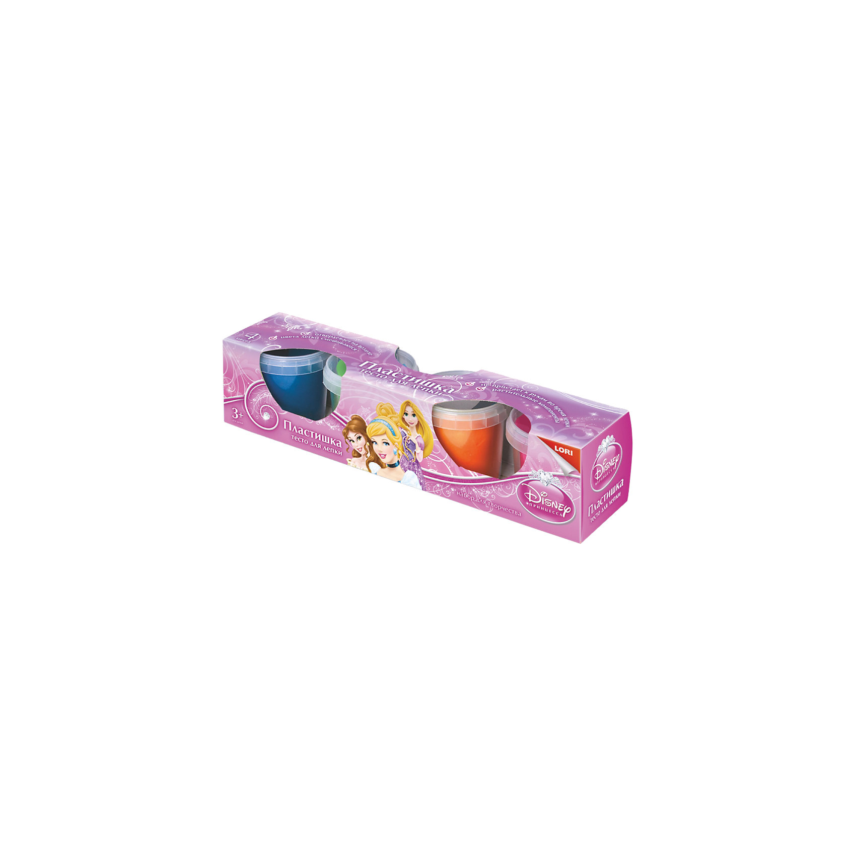 """Тесто для лепки """"Принцессы Disney"""", 4 цв. LORI"""