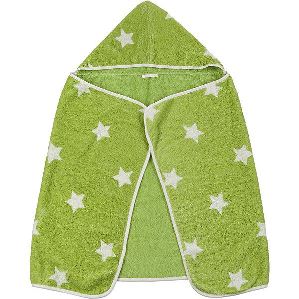Полотенце с капюшоном Fluffy, Happy Baby, зеленый