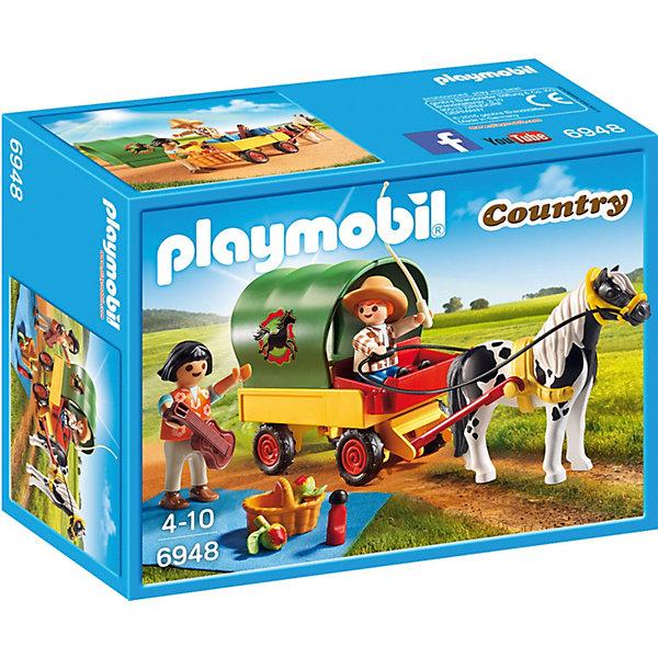 """Конструктор Playmobil """"Ферма Пони"""" Пикник с коневозкой"""