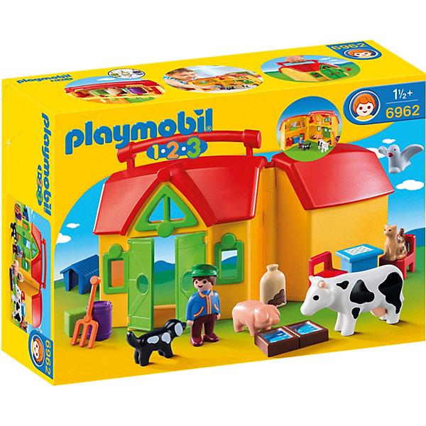 PLAYMOBIL® Конструктор Playmobil Ферма - возьми с собой, 15 деталей playmobil® конструктор playmobil вражеский квадроцикл с трицератопсом 7 деталей
