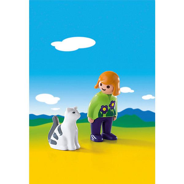 PLAYMOBIL® Конструктор Playmobil Женщина с кошкой playmobil® playmobil 4778 дополнение крестьянка с телятами