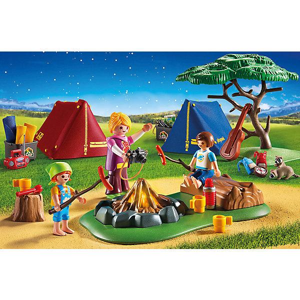 PLAYMOBIL® Конструктор Playmobil Летний лагерь Турбаза со светодиодным костром