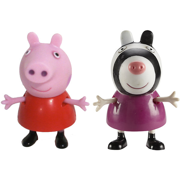 Игровой набор Пеппа и Зои, Свинка ПеппаИгровые наборы с фигурками<br>Добро пожаловать в мир Свинки Пеппы! С забавными игрушками из серии «Peppa Pig» веселые мультфильмы оживут прямо у вас дома, а малыши станут участниками увлекательных приключений Пеппы и ее друзей. В наборе Пеппа и Зои 2 фигурки, которые могут сидеть, стоять, двигать ручками и ножками. Игрушки выполнены из высококачественных экологичных материалов безопасных для детей. Собери всех героев известного мультсериала, проигрывай любимые сцены или придумывай свои новые истории! <br><br>Дополнительная информация:<br><br>- Материал: пластик.<br>- Руки, ноги фигурок подвижные. <br>- Размер фигурок: 5 см.<br><br>Игровой набор Пеппа и Зои Свинка Пеппа, можно купить в нашем магазине.<br>Ширина мм: 140; Глубина мм: 50; Высота мм: 155; Вес г: 85; Возраст от месяцев: 36; Возраст до месяцев: 72; Пол: Унисекс; Возраст: Детский; SKU: 4261813;