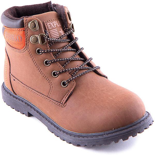 Ботинки для мальчика Indigo kidsБотинки<br>Ботинки для мальчика Indigo kids удобный и практичный вариант для холодной погоды. Модель  выполнена из высококачественных материалов, имеет мягкую теплую подкладку.  Ботинки завязываются на шнурки или же застегиваются на молнию, имеют рифленую подошву, декорированы аппликацией. <br><br>Дополнительная информация:<br><br>- Сезон: осень/весна<br>- Температурный режим: от +10? до - 5?.<br>- Тип застежки:  молния, шнурки.<br>- Рифленая подошва.<br>- Декоративные элементы:  аппликация.<br>Параметры для размера 32<br>- Толщина подошвы: 1,5 см.<br>- Высота каблука: 2 см.<br>Состав:<br>Материал верха: кожа искусственная.<br>Материал подкладки: шерсть.<br>Стелька: шерсть.<br>Подошва: ТЭП.<br><br>Ботинки для мальчика Indigo kids (Индиго Кидс) можно купить в нашем магазине.<br>Ширина мм: 262; Глубина мм: 176; Высота мм: 97; Вес г: 427; Цвет: оранжевый; Возраст от месяцев: 96; Возраст до месяцев: 108; Пол: Мужской; Возраст: Детский; Размер: 32,35,33,34,36,37; SKU: 4262336;