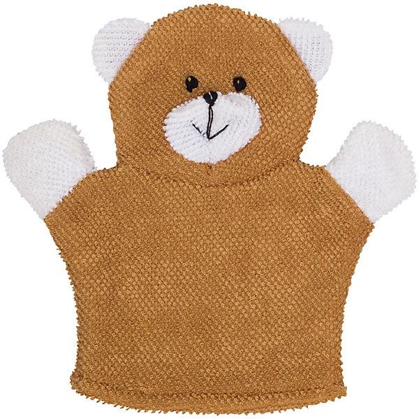 Roxy-Kids Махровая мочалка-рукавичка Baby Bear, Roxy-kids roxy kids рукавичка с прорезывателем салли roxy kids