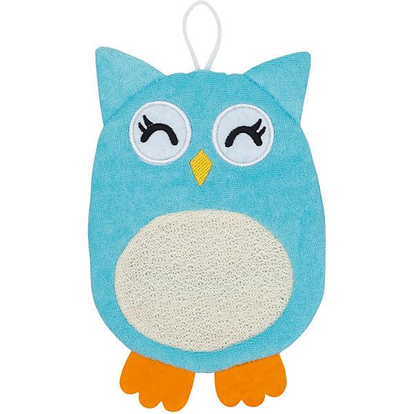 Roxy-Kids Махровая мочалка-рукавичка Baby Owl, Roxy-kids roxy kids рукавичка с прорезывателем салли roxy kids