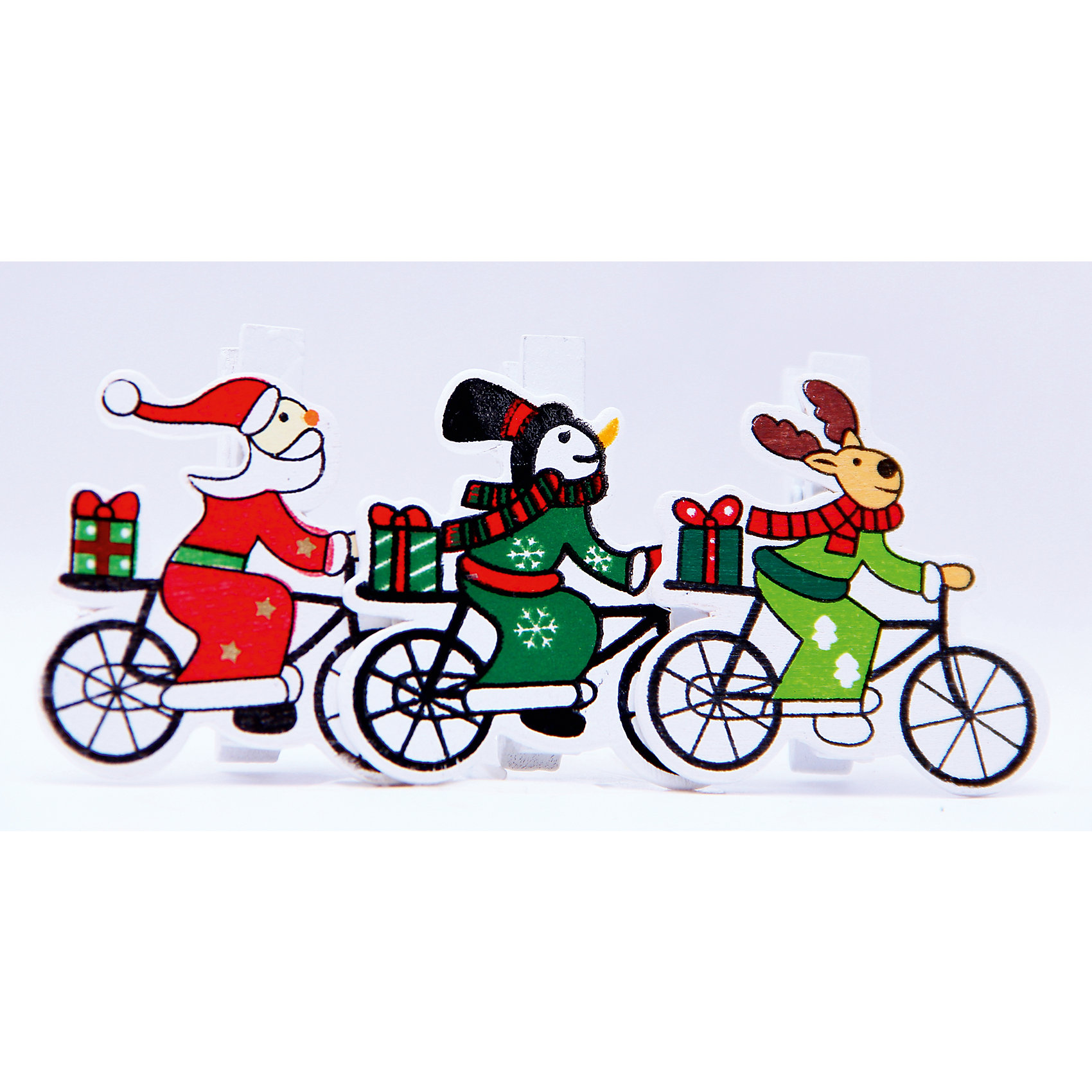 Открытка на прищепке велосипед, девочки