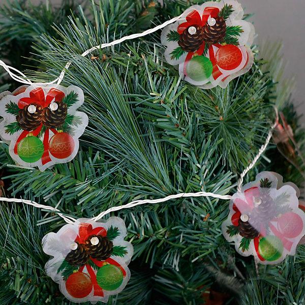 Электрогирлянда Шарики 250 см, 16 лампНовогодние электрогирлянды<br>Электрогирлянда Шарики, Феникс-презент, станет замечательным украшением Вашей новогодней елки или интерьера и поможет создать праздничную волшебную атмосферу. Красочная гирлянда состоит из 16 ламп, каждая из которых помещена между двух пластинок с<br>изображением новогодних шариков с бантиками и шишечками. Гирлянда будет чудесно смотреться на елке и радовать детей и взрослых. Имеется тумблер переключения режимов мигания огней (8 режимов). Мощность ламп - 30,7 Вт, работает от сети 220 В.<br><br><br>Дополнительная информация:<br><br>- Материал: ПВХ.<br>- Размер гирлянды: 250 см.<br>- Размер упаковки: 2 x 19 x 27 см.<br>- Вес: 130 гр. <br><br>Электрогирлянду Шарики 250 см., 16 ламп, Феникс-презент, можно купить в нашем интернет-магазине.<br>Ширина мм: 20; Глубина мм: 190; Высота мм: 270; Вес г: 130; Возраст от месяцев: 36; Возраст до месяцев: 2147483647; Пол: Унисекс; Возраст: Детский; SKU: 4274732;
