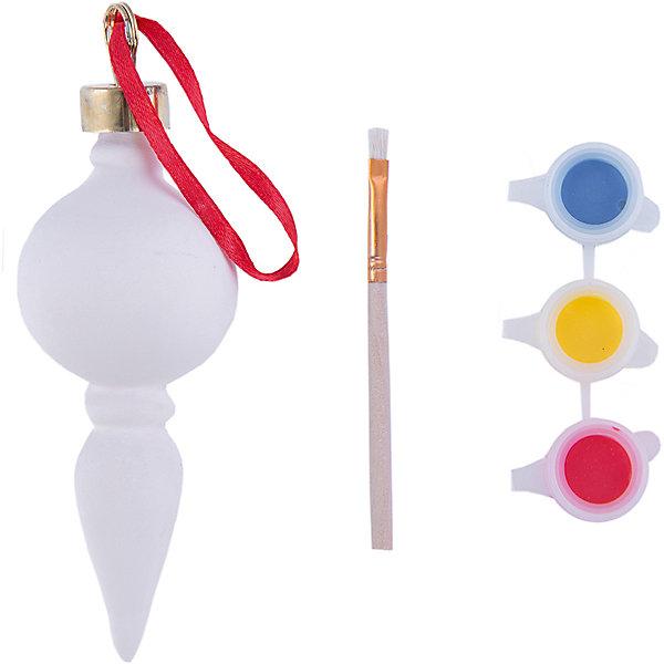 Набор для раскрашивания (керамика, 1 украшение)Новогодние наборы для творчества<br>Набор для раскрашивания, Феникс-Презент, приятно порадует юного художника. В комплект входят керамическое украшение, которое предлагается раскрасить, 3 акварельные краски и кисточка. Итогом работы станет симпатичное елочное украшение в форме сосульки, имеется петелька за которую его можно повесить на елке. Упаковка - блистер.<br> <br>Дополнительная информация:<br><br>- В комплекте: подвесное украшение из доломитовой глины, 3 акварельные краски (голубая, желтая, красная), кисть.<br>- Материал: керамика.<br>- Размер украшения: 4,2 х 4,2 х 12,5 см.<br>- Размер упаковки: 17,5 х 12 х 4,5 см.<br>- Вес: 74 гр. <br><br>Набор для раскрашивания (керамика, 1 украшение), Феникс-Презент, можно купить в нашем интернет-магазине.<br>Ширина мм: 200; Глубина мм: 150; Высота мм: 100; Вес г: 100; Возраст от месяцев: 36; Возраст до месяцев: 2147483647; Пол: Унисекс; Возраст: Детский; SKU: 4276487;