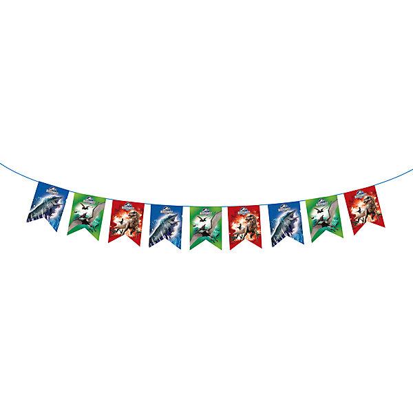 Гирлянда-флажки Динозавры 3,2 м, Парк Юрского ПериодаБаннеры и гирлянды для детской вечеринки<br>Гирлянда-флажки Динозавры 3,2 м, Парк Юрского Периода – аксессуар станет отличным украшением для комнаты, где будет отмечаться торжество.<br>Стильная гирлянда «Динозавры» с персонажами фильма «Парк Юрского Периода» идеально подойдет для детского праздника. Она не только эффектно преобразит помещение, но и поднимет настроение всем участникам торжества.<br><br>Дополнительная информация:<br><br>- Длина: 3,2 м.<br>- Высота флажков: 18 см.<br>- Материал: бумага<br>- Способ крепления: лента<br><br>Гирлянду-флажки Динозавры 3,2 м, Парк Юрского Периода можно купить в нашем интернет-магазине.<br>Ширина мм: 250; Глубина мм: 210; Высота мм: 5; Вес г: 80; Возраст от месяцев: 36; Возраст до месяцев: 96; Пол: Мужской; Возраст: Детский; SKU: 4278329;