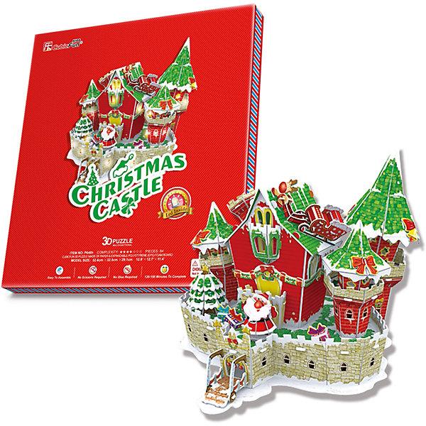 CubicFun Сказочный рождественский замок, с подсветкой, CubicFun 3d пазл с подсветкой рождественский коттедж 3 cubicfun