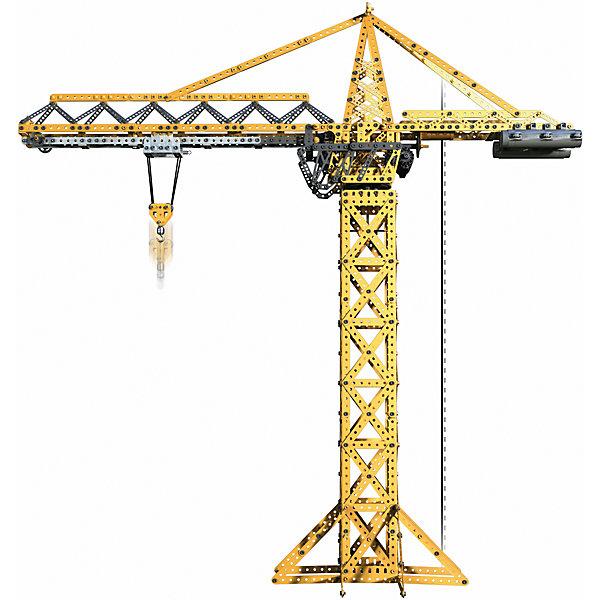 Строительный кран, MeccanoМеталлические конструкторы<br>Основная модель этого набора - кран. Он оборудован тремя моторами, обеспечивающими движение крана во всех плоскостях, благодаря чему, он может выполнять все функции настоящего строительного крана. При этом, он имеет подсветку, которую можно программировать по своему желанию. Конструктор Meccano увлекает не только сборкой, но и последующей эксплуатацией и игрой с ним, благодаря возможности конструировать огромное разнообразие моделей и богатому функционалу. Его захочет иметь в своей коллекции не только ребенок, но и взрослый. Каждый конструктор имеет набор необходимых инструментов, удобных в использовании, и подробную инструкцию, разработанную таким образом, чтобы он была максимально понятна для детей.<br><br><br>Дополнительная информация:<br><br>- Материал: металл.<br>- Размер упаковки: 50х38х10 см.<br>- Размер крана: 93х32х96 см. <br>- Комплектация:  1741 деталь, пульт, 3 мотора, 3 светодиода, инструменты для сборки. <br>- Количество деталей: 1989.<br>- Элемент питания: 4 С батарейки,  3 ААА батарейки (в комплекте нет).<br><br>Строительный кран, Meccano (Меккано), можно купить в нашем магазине.<br>Ширина мм: 500; Глубина мм: 383; Высота мм: 111; Вес г: 5555; Возраст от месяцев: 120; Возраст до месяцев: 192; Пол: Мужской; Возраст: Детский; SKU: 4278450;
