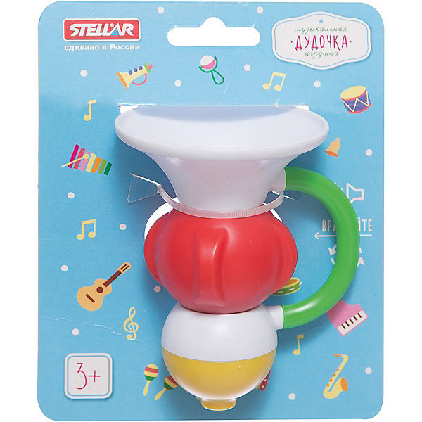Стеллар Погремушка Дудочка, Стеллар alex toys игрушка для ванной водяная дудочка
