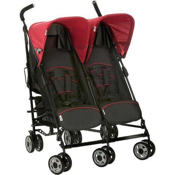 Фотография товара коляска-трость для двойни Turbo Duo, Hauck, caviar/tango (4285346)