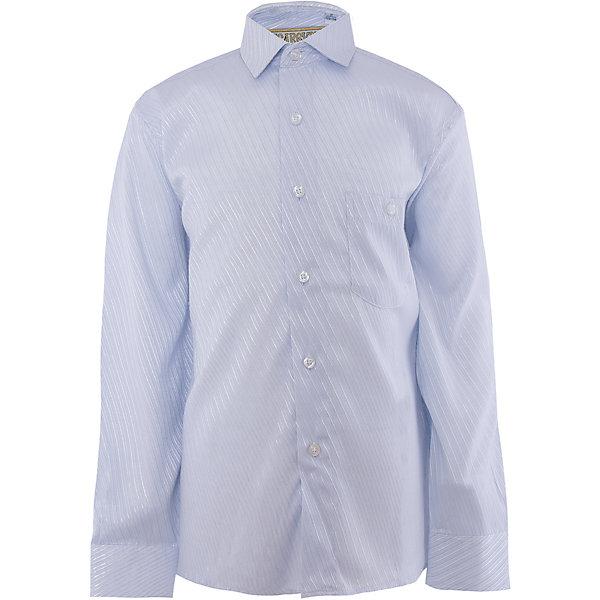Рубашка для мальчика TsarevichБлузки и рубашки<br>Характеристики товара:<br><br>• цвет: голубой<br>• состав ткани: 65% хлопок, 35% полиэстер<br>• особенности: школьная, праздничная<br>• застежка: пуговицы<br>• рукава: длинные<br>• сезон: круглый год<br>• страна бренда: Российская Федерация<br>• страна изготовитель: Китай<br><br>Классическая сорочка для мальчика - отличный вариант практичной и стильной школьной одежды.<br><br>Классическая форма, накладной карман, воротник с отсрочкой, прямой низ, дышащая ткань с преобладанием хлопка - красиво и удобно.<br><br>Рубашку для мальчика Tsarevich (Царевич) можно купить в нашем интернет-магазине.<br>Ширина мм: 174; Глубина мм: 10; Высота мм: 169; Вес г: 157; Цвет: голубой; Возраст от месяцев: 144; Возраст до месяцев: 156; Пол: Мужской; Возраст: Детский; Размер: 152/158,140/146,122/128,164/170,152/158,134/140,128/134,146/152,146/152,158/164; SKU: 4295826;