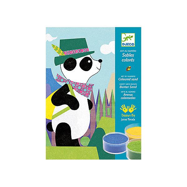 Песочные картинки Панда и ее друзьяКартины из песка<br>Песочные картинки Панда и ее друзья - это набор для создания 4 красивых картинок из песка по номерам с изображением Панды и его друзей.<br>Набор предназначен песочные картинки Панда и ее друзья - это уникальная раскраска для создания картинок, изображающих панду, олененка, поросенка, котенка с помощью разноцветного песка. На картинке-основе нанесен контур рисунка, фрагменты рисунка крупные. Каждая деталь отмечена цифрой соответственно номеру цветного песка. Коробка, в которой продается набор - рабочая поверхность. Раскрашивать картинку лучше в ней, рабочее место останется чистым и лишний песок можно высыпать через специальное отверстие в коробке назад в баночку. Снимите защитную пленку с одной из деталей рисунка (если это сделать сложно воспользуйтесь шпателем), посыпьте тем цветом песка, номер которого обозначен на этом сегменте рисунка, лишний песок аккуратно снимите кисточкой. Не снимайте защитную пленку сразу с нескольких сегментов - песок перемешается и рисунок потеряет аккуратную форму! Раскрашивать рисунок лучше начинать с верхнего края картинки и постепенно опускаться вниз. Вашему ребенку обязательно понравится делать картины из песка. Готовая картина станет прекрасным подарком, сделанным своими руками, или же дополнит интерьер детской комнаты. Рисование песком - это игровое и художественное занятие, способствующее развитию чувства гармонии, ловкости рук и креативности.<br><br>Дополнительная информация:<br><br>- В наборе: 4 листа с клейкой основой для создания картинок (15x21см.), 12 баночек с цветным песком, шпатель, пошаговая инструкция<br>- Размер упаковки: 23 х 17 х 4 см.<br>- Вес: 530 гр.<br><br>Песочные картинки Панда и ее друзья можно купить в нашем интернет-магазине.<br>Ширина мм: 230; Глубина мм: 170; Высота мм: 40; Вес г: 530; Возраст от месяцев: 48; Возраст до месяцев: 96; Пол: Унисекс; Возраст: Детский; SKU: 4305751;