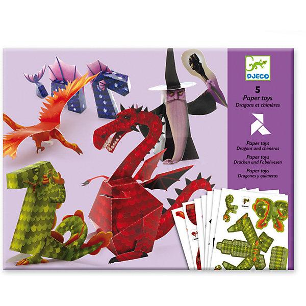 DJECO Волшебная бумага «Драконы» наборы для творчества djeco трафареты драконы