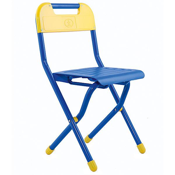 Стул Дэми (2-5 лет)Детские столы и стулья<br>Складной стул - незаменимый атрибут любой детской комнаты. Стул очень удобный и прочный, яркая расцветка обязательно понравится детям и отлично впишется в интерьер. Стул быстро раскладывается и складывается, в сложенном виде занимает мало места. Прочное алюминиевое основание и пластиковое сиденье и спинку удобно мыть. Прекрасно подходит для организации детских игр и отдыха. <br><br>Дополнительная информация:<br>- Высота от пола до сиденья: 30 см. <br>- Материал: пластик, алюминий. <br>- Цвет: синий.<br>- Складывается. <br>- Максимальный вес: 30 кг.<br><br>Синий стул (2-5 лет) можно купить в нашем магазине.