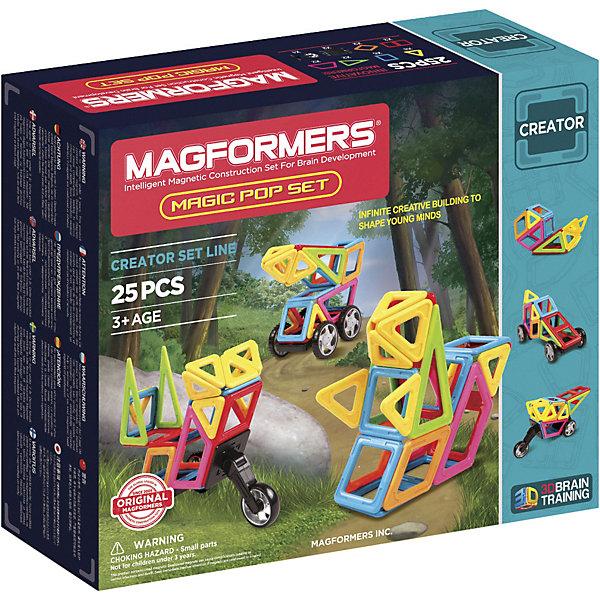 MAGFORMERS Магнитный конструктор Magic Pop, 25 деталей, MAGFORMERS стоимость