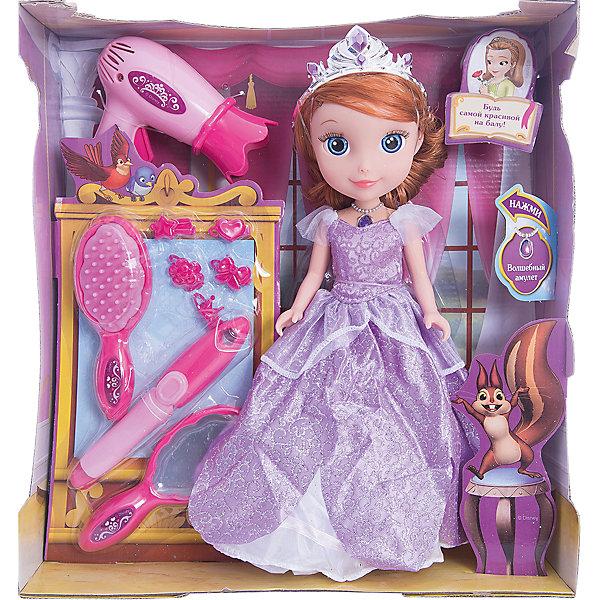 Кукла София, с набором для волос, 25см, София Прекрасная, КарапузИгрушки<br>Очаровательная София приведет в восторг любую девочку. Куколка выглядит в точности, как персонаж из любимого мультфильма. Малышка одета в красивое платье с пышной юбкой, на голове у нее - изысканная тиара. В этом наборе множество приспособлений, чтобы сделать прическу Софии еще прекраснее. Экспериментируй, создавая свой образ любимой героини.  <br><br>Дополнительная информация:<br><br>- Материал: пластик, текстиль.<br>- Размер куклы: 25 см.<br>- Голова, руки, ноги куклы подвижные. <br>- Комплектация: кукла в одежде, фен, расческа, аксессуары для волос.<br><br>Куклу София, с набором для волос, 25см, София Прекрасная, Карапуз, можно купить в нашем магазине.<br>Ширина мм: 270; Глубина мм: 300; Высота мм: 90; Вес г: 610; Возраст от месяцев: 36; Возраст до месяцев: 120; Пол: Женский; Возраст: Детский; SKU: 4310817;