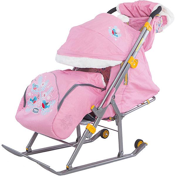купить Ника Санки-коляска Ника детям 6, Снегири на ветке, по цене 4250 рублей